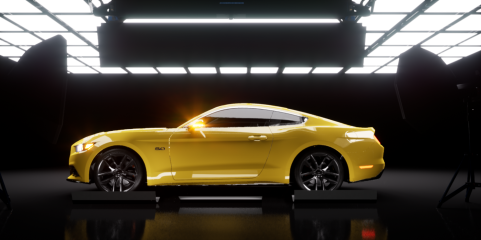Yellow-Car-Frontal